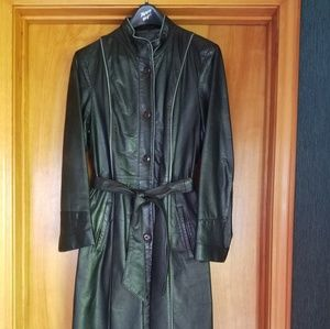 Vintage Tannery West Leather Coat size 16